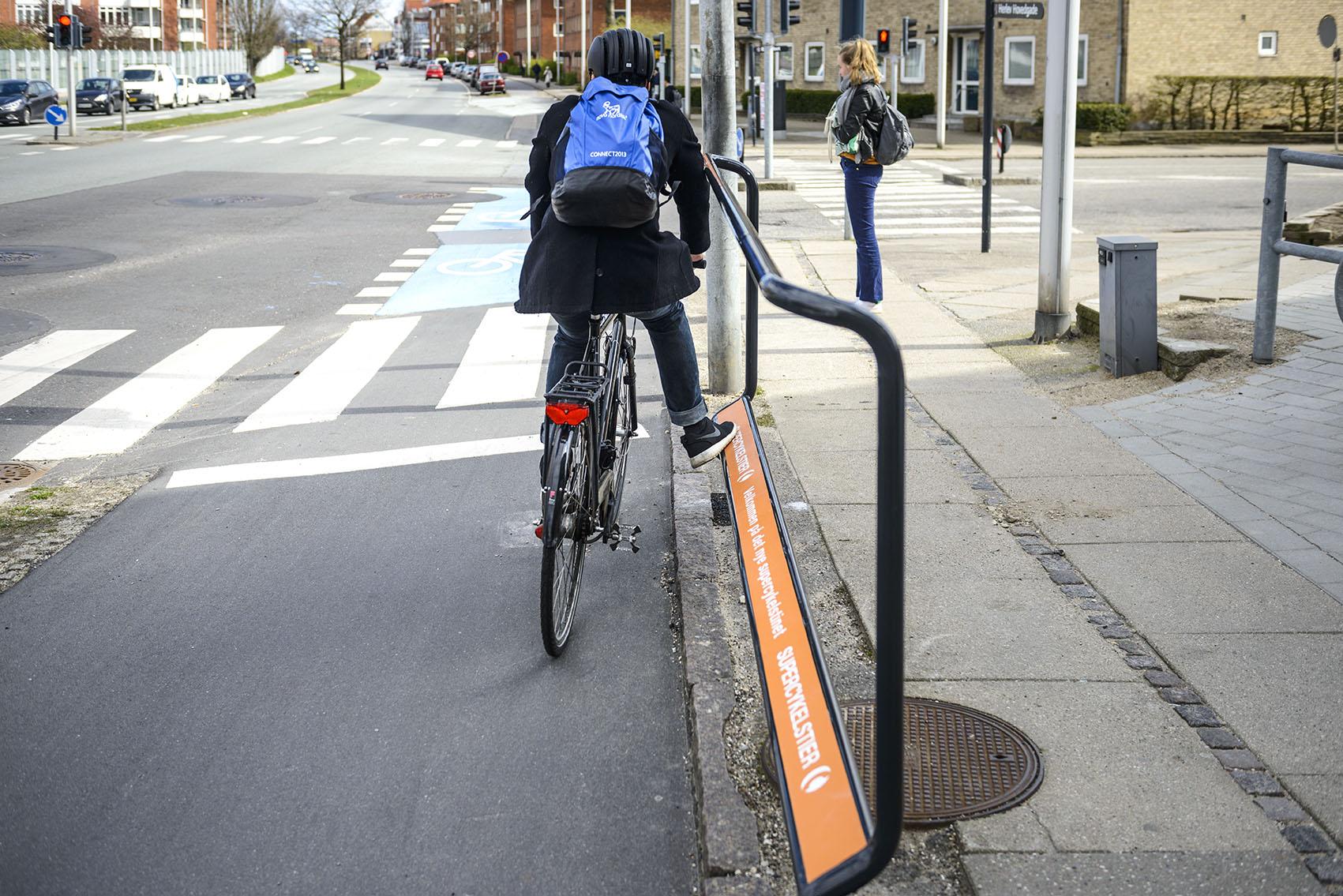 Apoio pés ciclistas Dinamarca