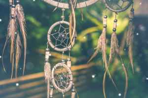 selective focus photo of brown dreamcatcher