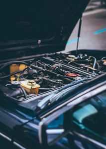 close up photo of vehicle engine